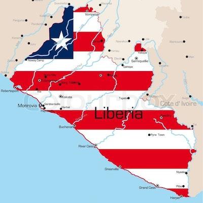 Liberia - kaart