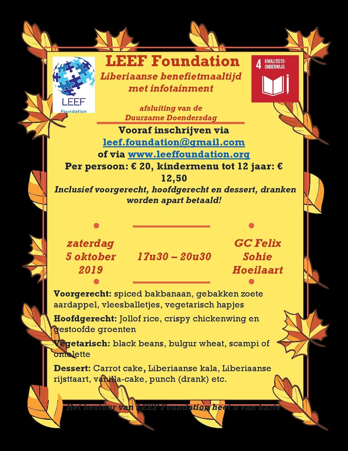 Leef foundation flyer