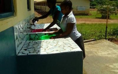 gebruik van de watertafels voor wassen van CamePads (maandverband)